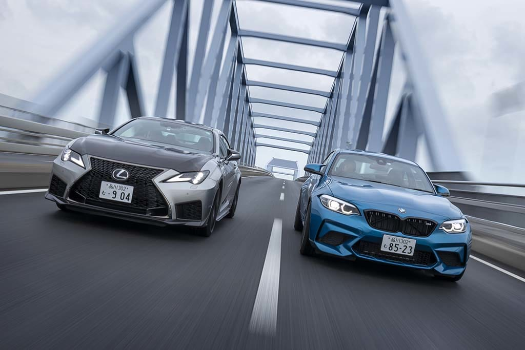 "BMW M2 COMPETITION vs LEXUS RC F ""Performance package"""
