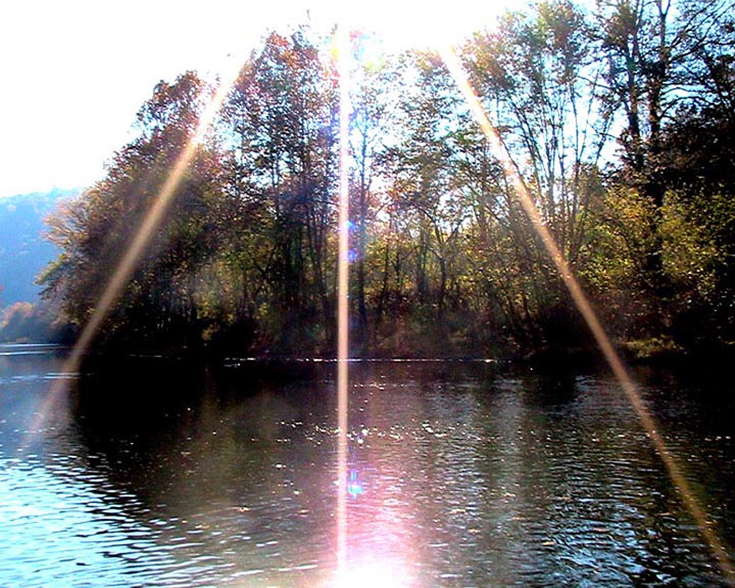 Bicycle_03 - Sunburst Over River
