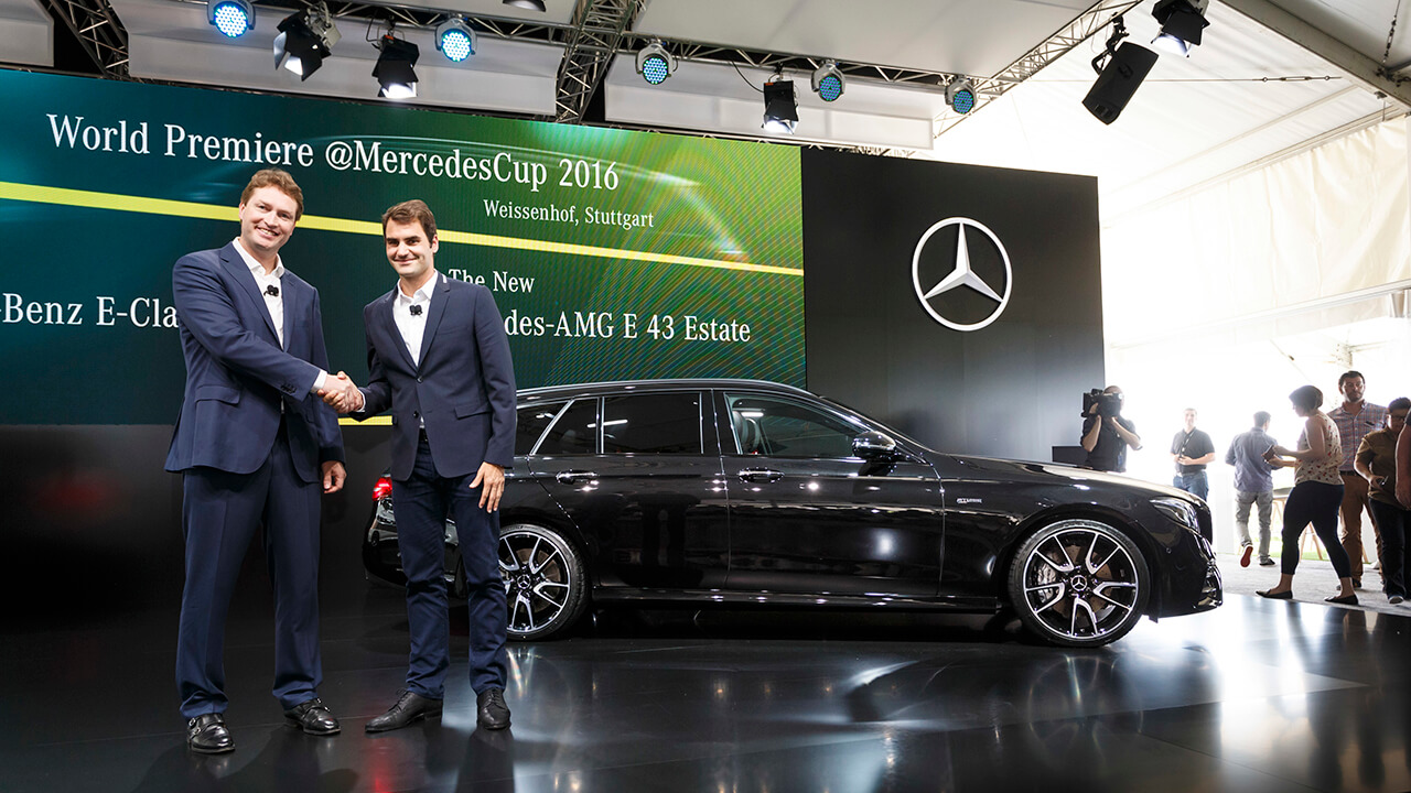 01_EuroNCAP - Weltpremiere des neuen E-Klasse T-Modells beim MercedesCup in Stuttgart