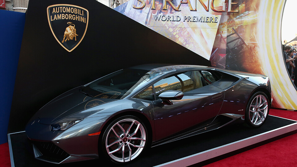 Lamborghini Stars at Marvel's Doctor Strange, in theaters Nov. 4.