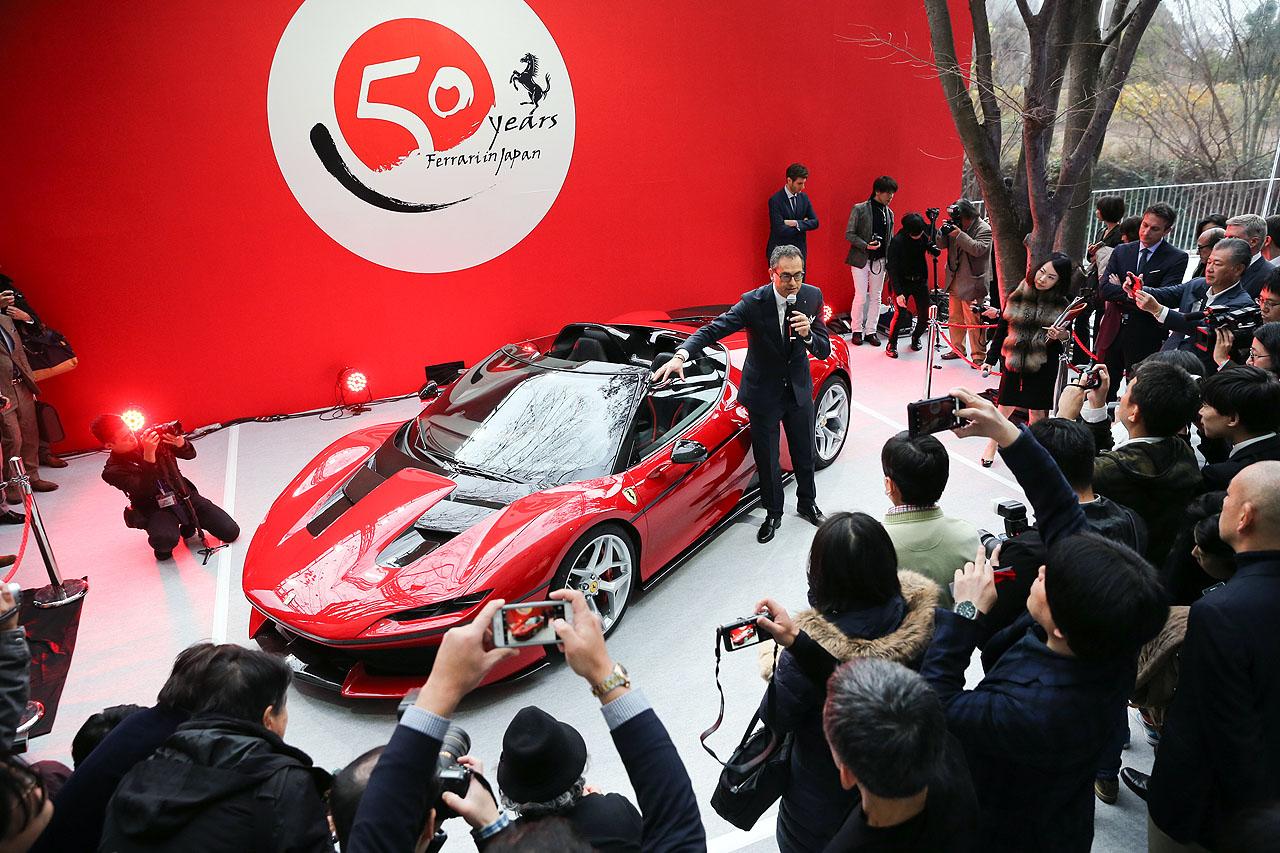 「フェラーリJ50」が日本上陸50周年記念、ラストイベントにサプライズ登場!価格はなんと3億円!! - 20