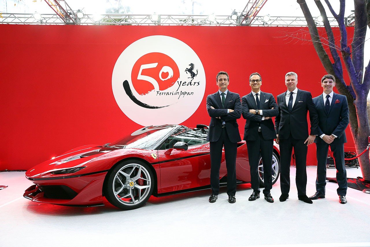 「フェラーリJ50」が日本上陸50周年記念、ラストイベントにサプライズ登場!価格はなんと3億円!! - 4