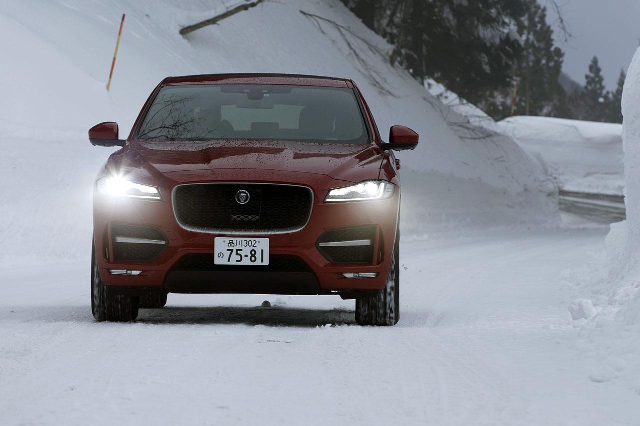 ジャガー・ランドローバー雪上試乗会報告② 初のSUVはどんなテイスト? ジャガー「Fペース」でスノーアタック! - JAGUAR F-PACE 4WD SNOW (3)
