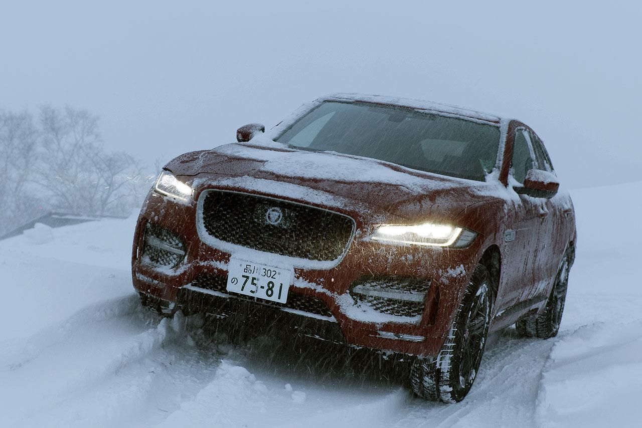 ジャガー・ランドローバー雪上試乗会報告② 初のSUVはどんなテイスト? ジャガー「Fペース」でスノーアタック! - JAGUAR F-PACE 4WD SNOW (6)