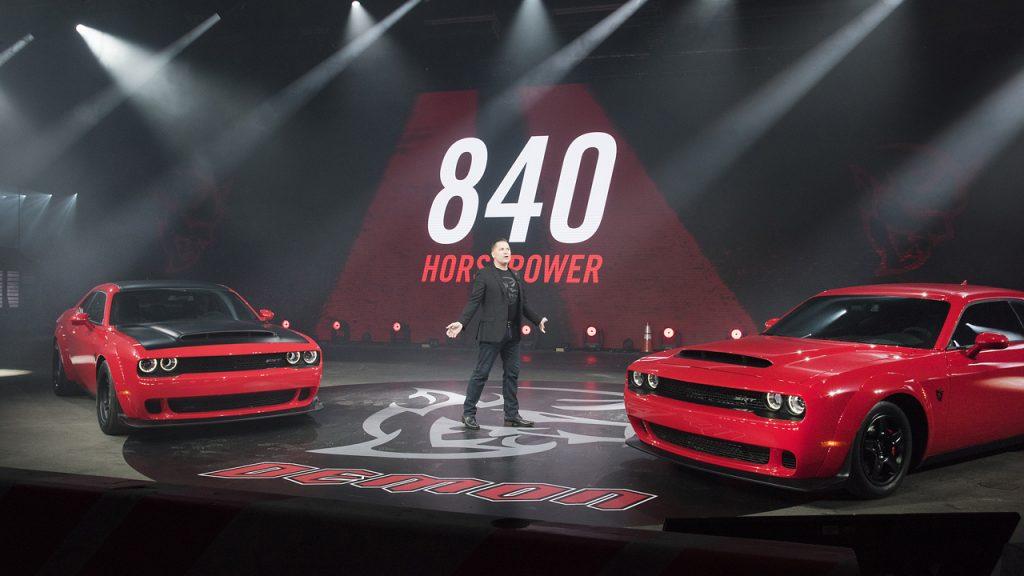 840-horsepower 2018 Dodge Challenger SRT Demon debuts in New York