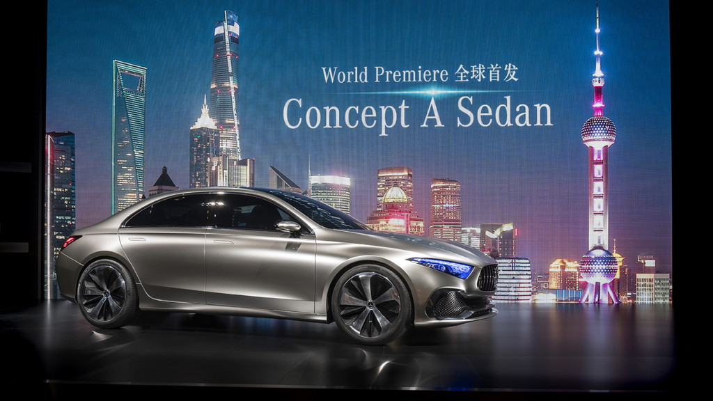 メルセデス・ベンツ「コンセプトAセダン」が登場!【上海モーターショー2017】 - Mercedes-Benz Media Preview im Rahmen der Auto Shanghai 2017. Weltpremiere für das Mercedes-Benz Concept A Sedan.