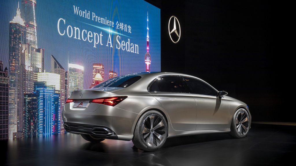 Mercedes-Benz Media Preview im Rahmen der Auto Shanghai 2017. Weltpremiere für das Mercedes-Benz Concept A Sedan.