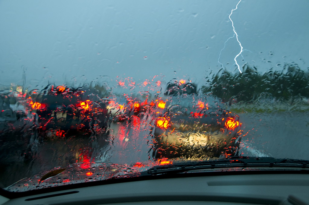 Hazards of driving during a tropical storm extreme caution is needed