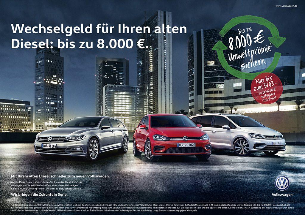 VWのディーゼル代替補助金、3月まで延長 -